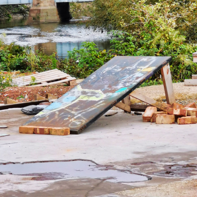 """Graffiti Ramp"" stock image"