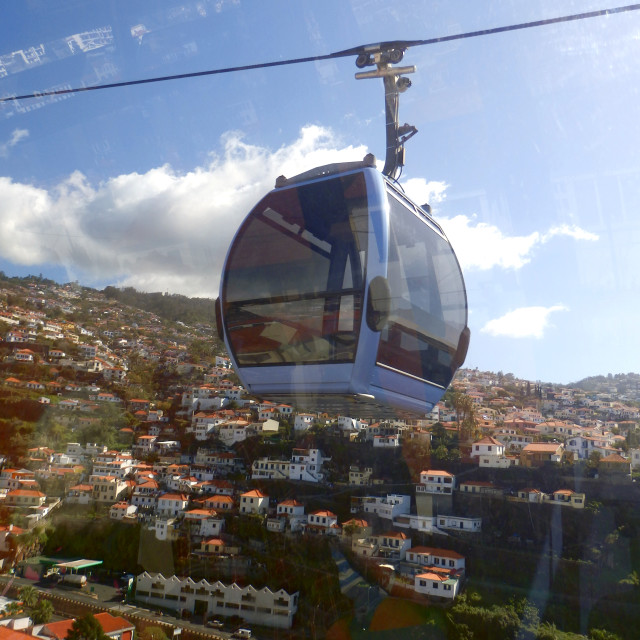 """Cable Car in Madeira"" stock image"
