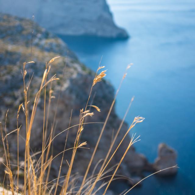 """Dramatic Cliffs In Mallorca"" stock image"