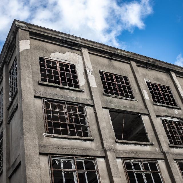 """Recession Derelict Factory"" stock image"