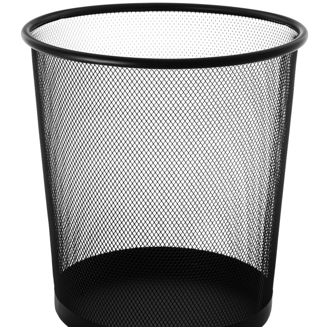 """""""Office empty trash can isolated on white"""" stock image"""