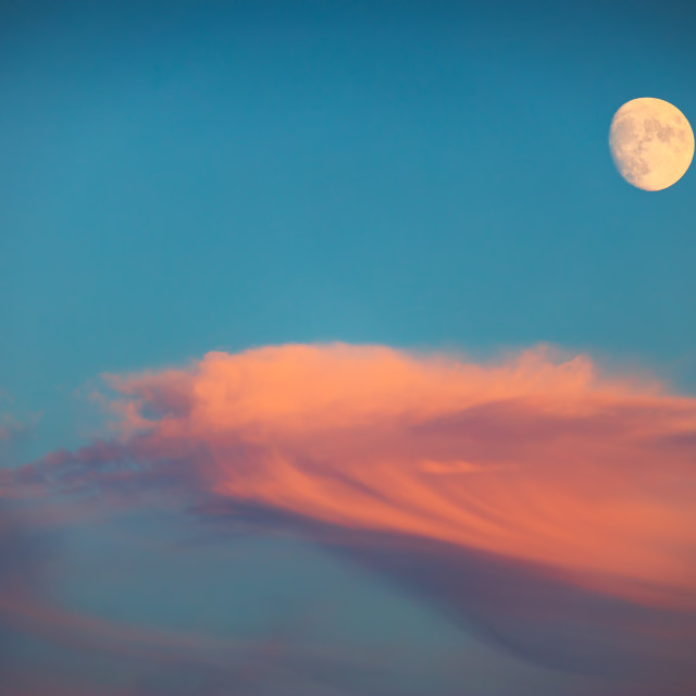 """""""Night sky with moon and clouds"""" stock image"""