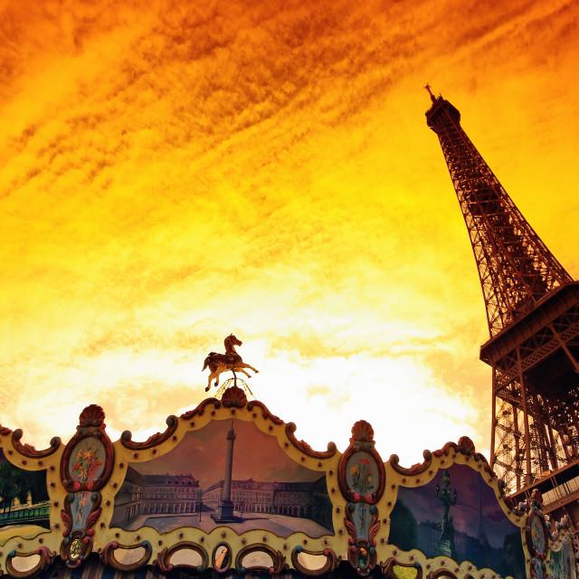 """""""Paris sunrise"""" stock image"""