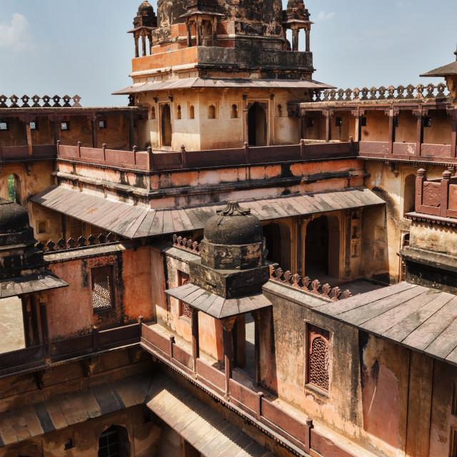 """Datia palace in Madhya Pradesh, India"" stock image"