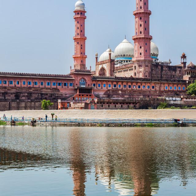 """Taj-ul-Masajid the largest mosque in India. Bhopal, India"" stock image"