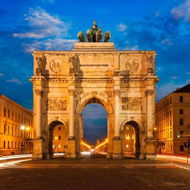 """""""Victory Gate, Munich"""" stock image"""