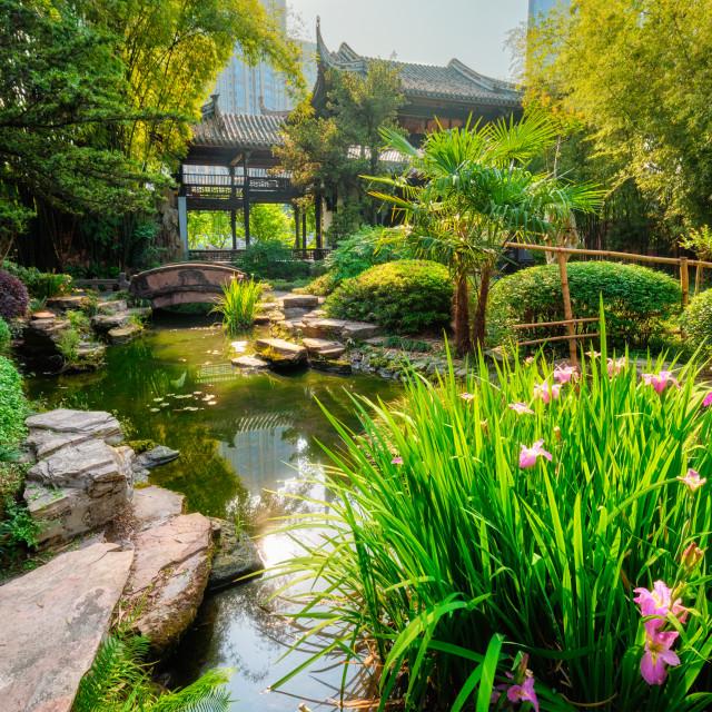 """""""Wangjianglou park. Chengdu, Sichuan, China"""" stock image"""