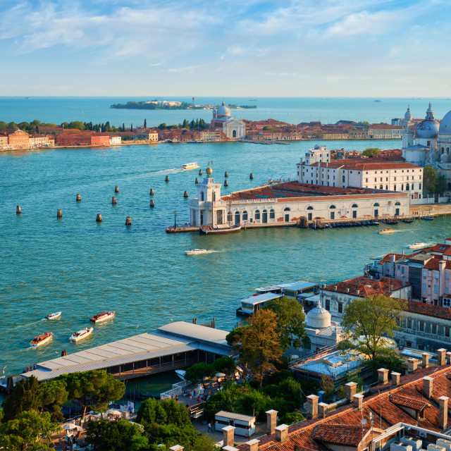 """""""View of Venice lagoon and Santa Maria della Salute. Venice, Italy"""" stock image"""