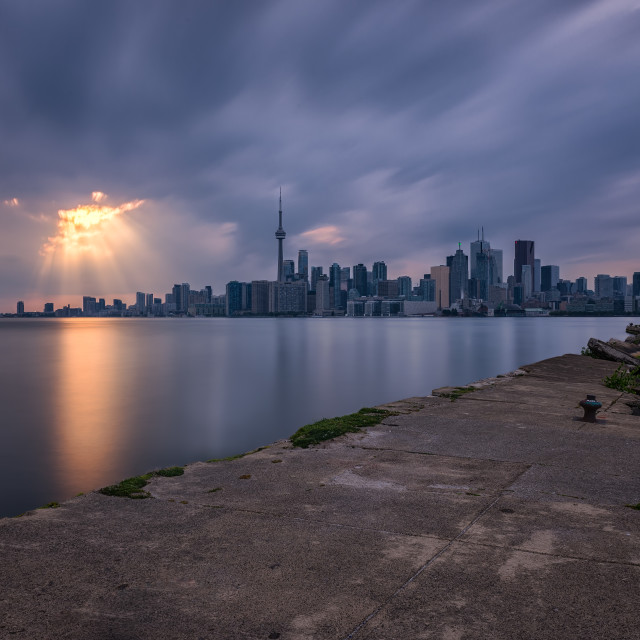 """Sunset over Toronto"" stock image"