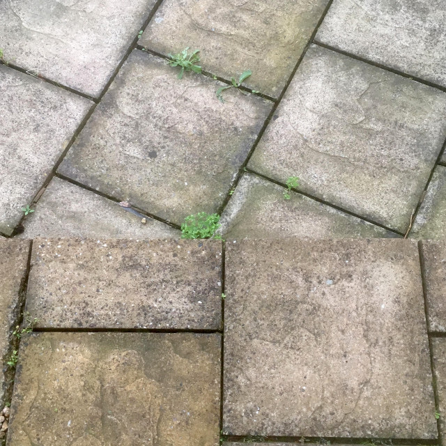 """""""Old paving slabs from above"""" stock image"""