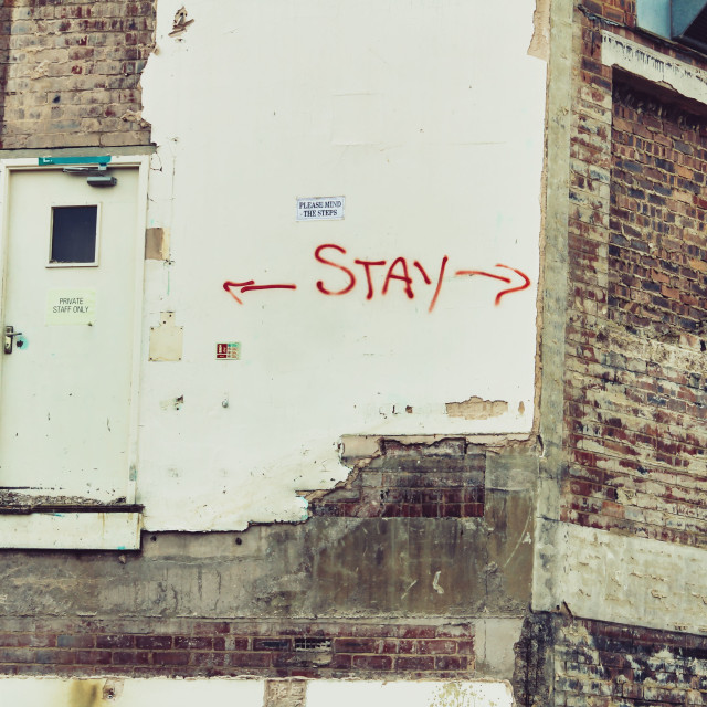 """Stay"" stock image"
