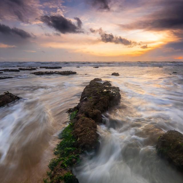 """Sunset seascape"" stock image"