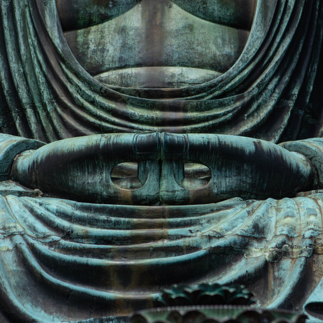 """Hands of the Great Buddha of Kamakura Japan"" stock image"