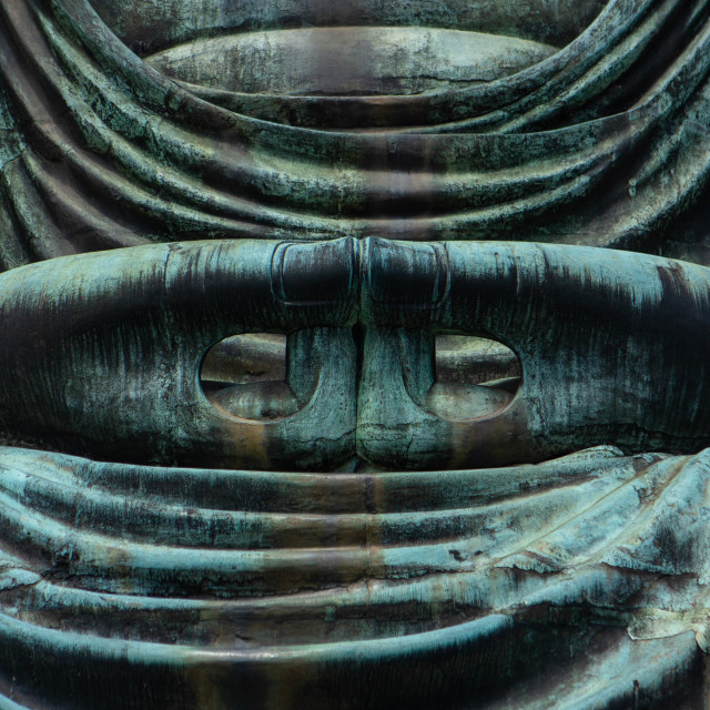 """Mudra of the Great Buddha of Kamakura Japan"" stock image"