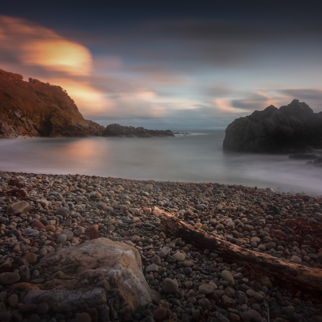 """Rotherslade Bay on the Gower peninsula"" stock image"