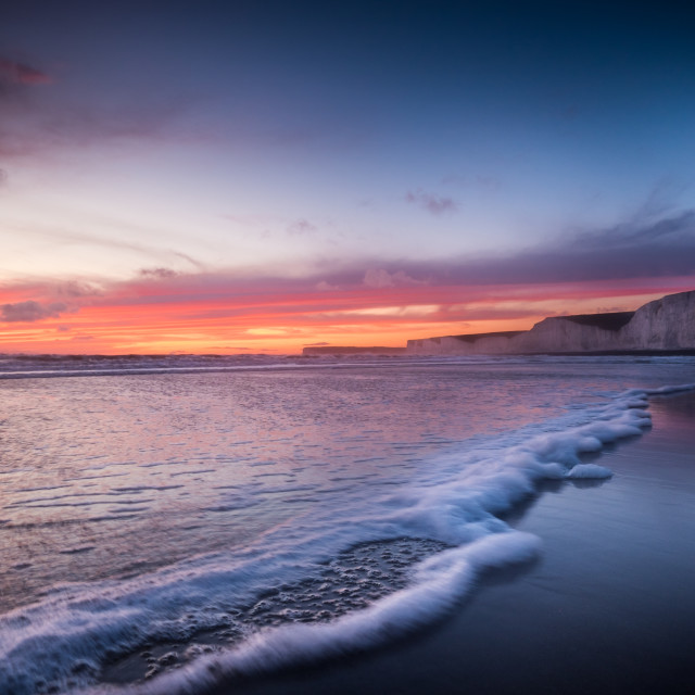 """The Seven sisters from Birling Gap."" stock image"