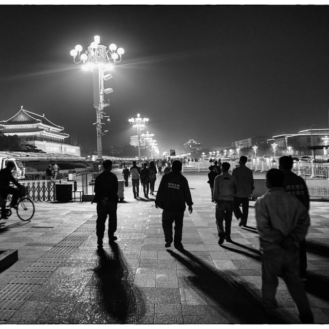 """Tian'anmen night scene"" stock image"