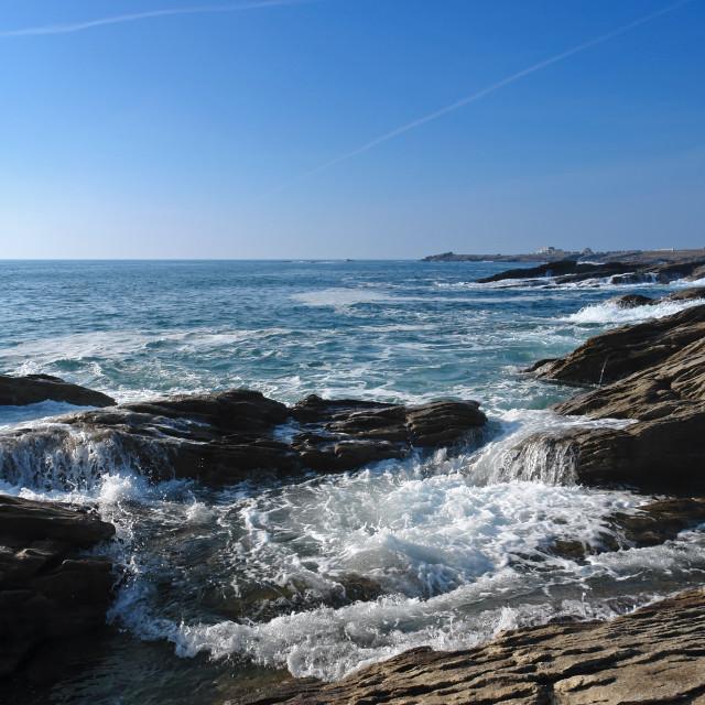 """Quiberon savage coast"" stock image"