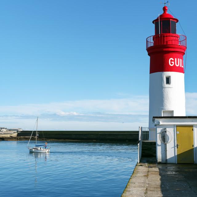 """""""Le Guilvinec harbor"""" stock image"""