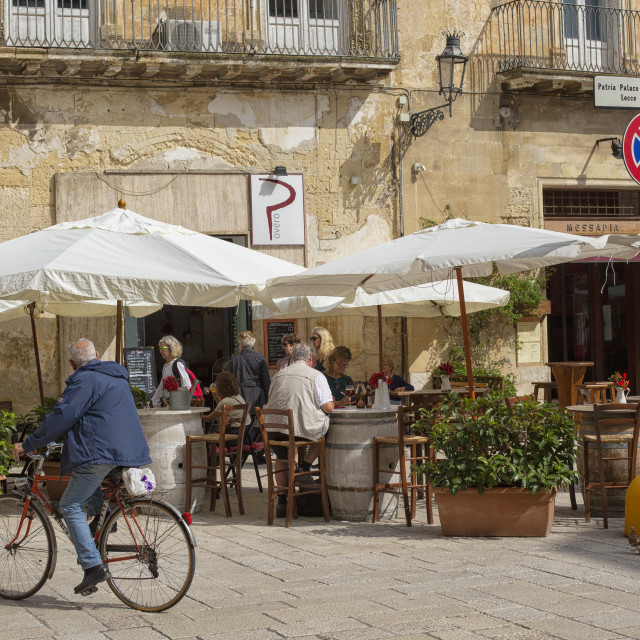 """Terrace in Lecce, Italy"" stock image"