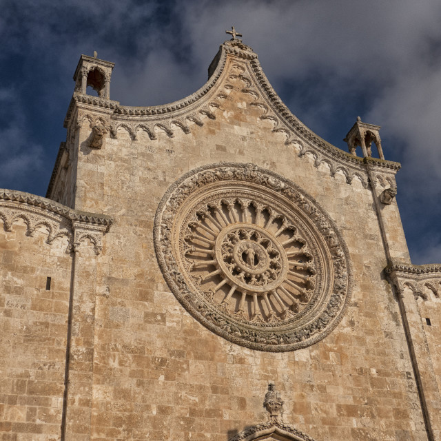 """Rosetta of the Ostuni cathedral, Italy"" stock image"