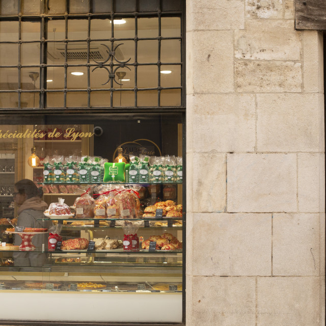 """Pastry shop in Lyon"" stock image"