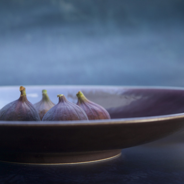 """""""Just a bowl of figs"""" stock image"""