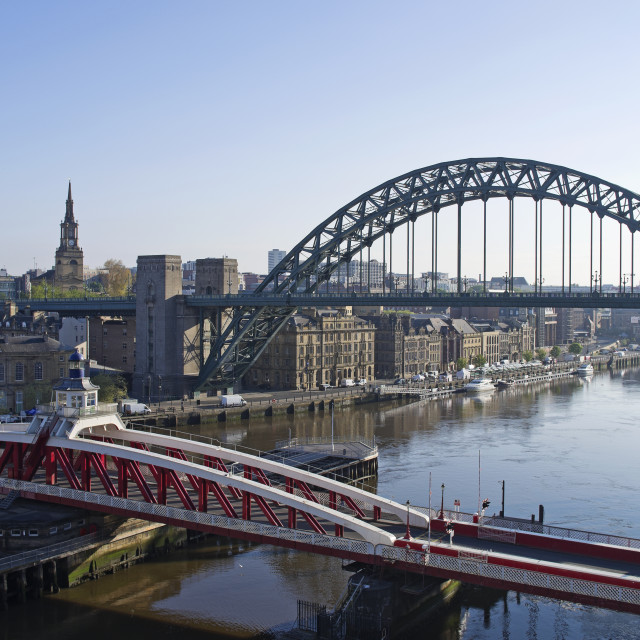 """""""Early morning, River Tyne"""" stock image"""