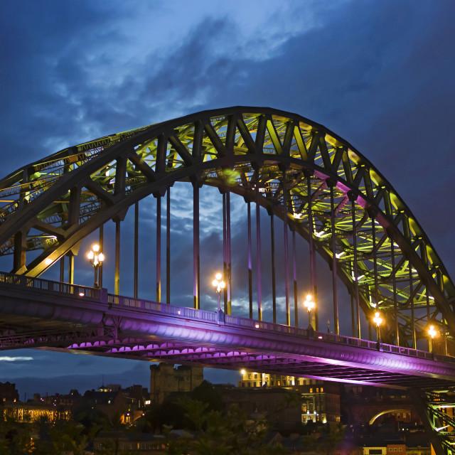 """""""The Tyne Bridge at dusk"""" stock image"""
