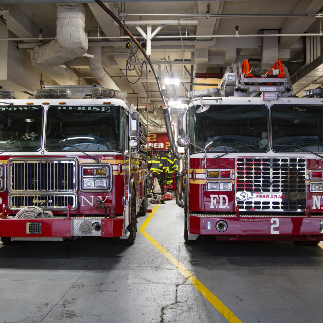 """New York City Firehouse"" stock image"