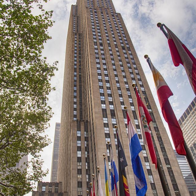 """""""Rockefeller Center, New York Manhattan"""" stock image"""