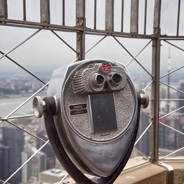 """Empire State Building Binoculars"" stock image"