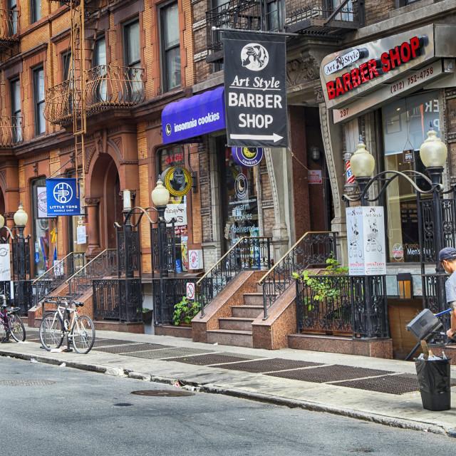 """New York City Street Scene"" stock image"