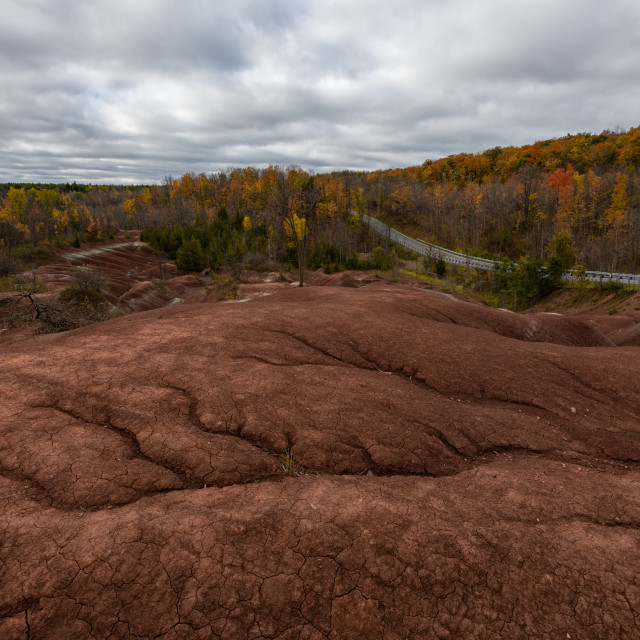 """The Badlands in Autumn"" stock image"