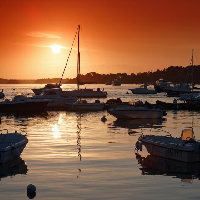 """""""Port blanc sunrise"""" stock image"""