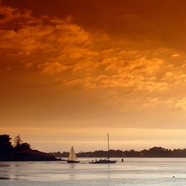"""Sept Îles sunset"" stock image"