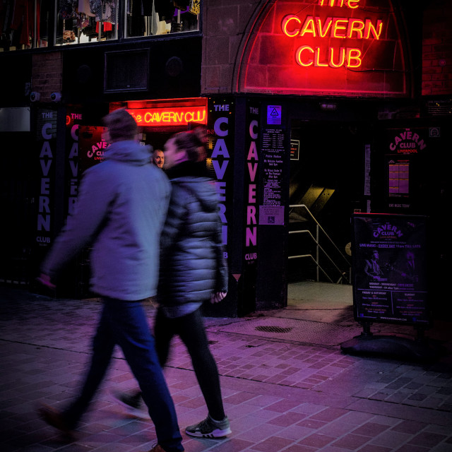 """Cavern Club, Liverpool at night"" stock image"