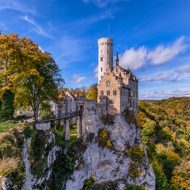 """""""Castle Lichtenstein"""" stock image"""