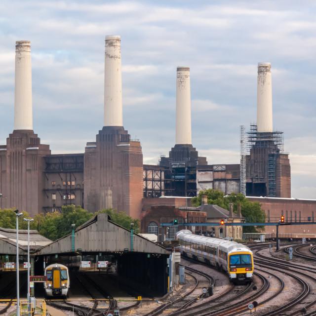 """Battersea Power Station. London. UK."" stock image"