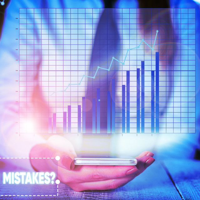 """""""Conceptual hand writing showing Common Mistakes question. Business photo..."""" stock image"""