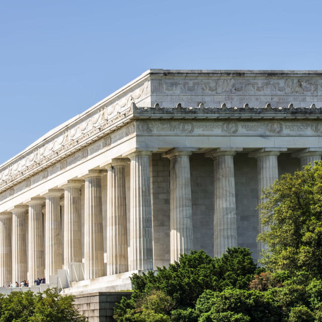 """""""A View of The Lincoln Memorial"""" stock image"""