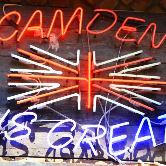 """Camden neon sign"" stock image"
