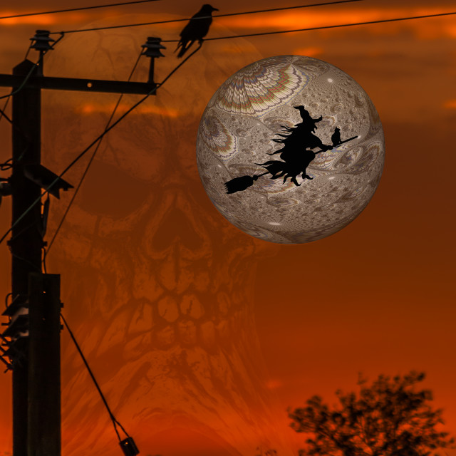 """Halloween Flight"" stock image"