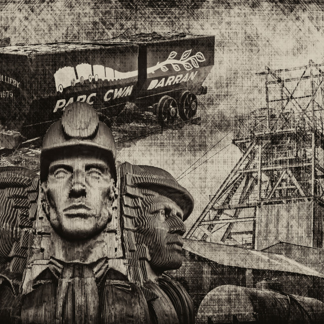 """Mining Tribute Antique 1"" stock image"