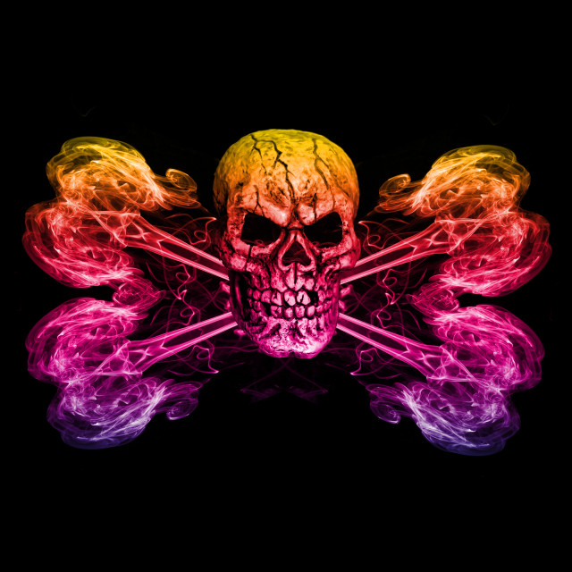 """Jolly Roger Rainbow"" stock image"