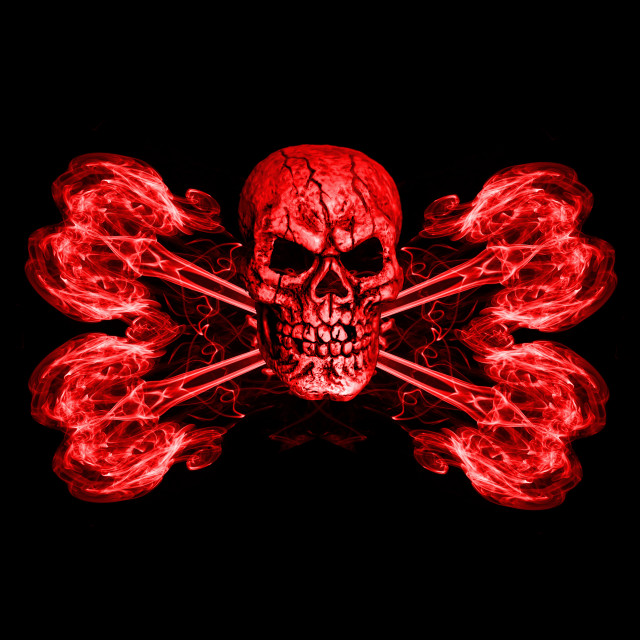 """Jolly Roger Red"" stock image"