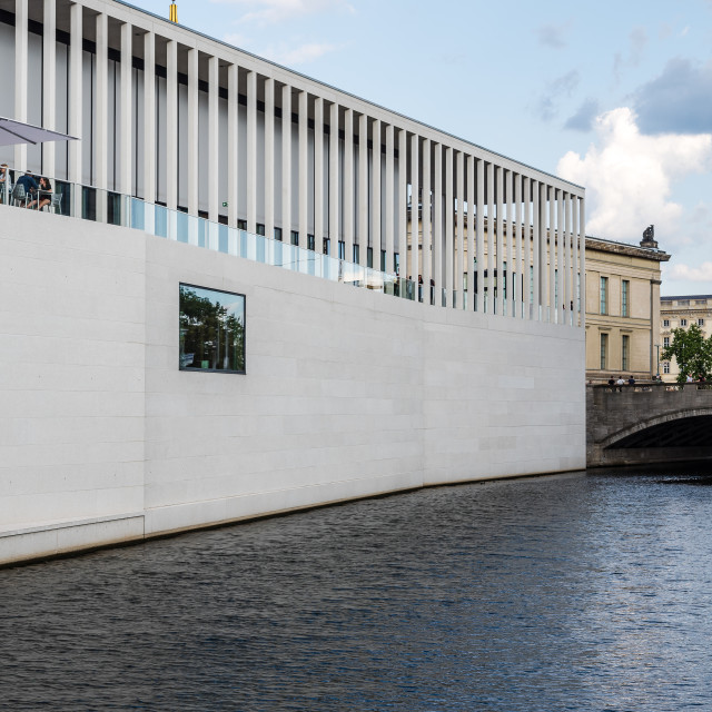 """James Simon Gallery and Spree river in Berlin"" stock image"