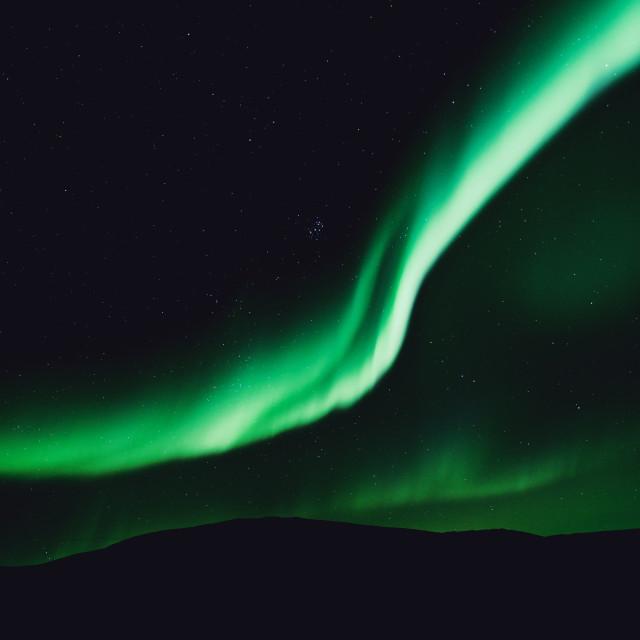 """""""Arctic Aurora 2"""" stock image"""