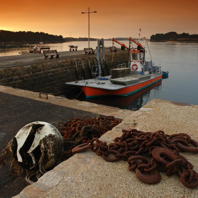 """Lamor Baden harbor"" stock image"
