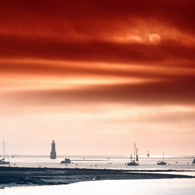 """Loctudy lighthouse"" stock image"